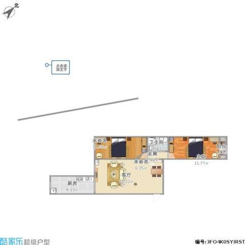 水榭春天1室1厅1卫1厨85.00㎡户型图