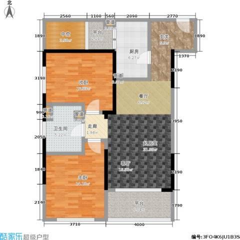 康桥半岛(五期)2室0厅1卫1厨83.05㎡户型图