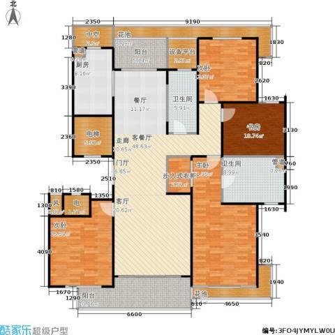 绿城之江1号4室1厅2卫1厨188.00㎡户型图