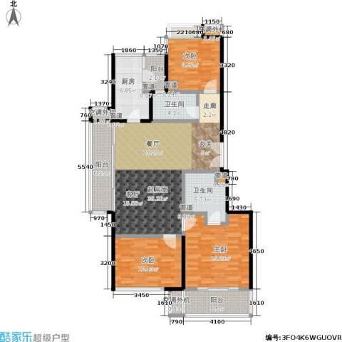 康桥半岛(五期)3室0厅2卫1厨154.00㎡户型图