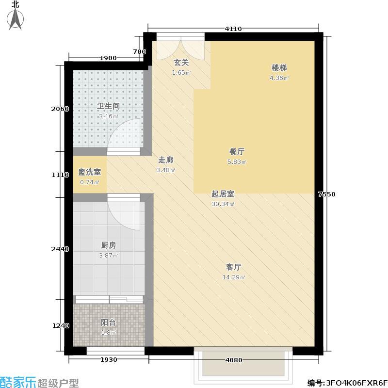 江南山水113.53㎡一期A1号楼C2首层户型