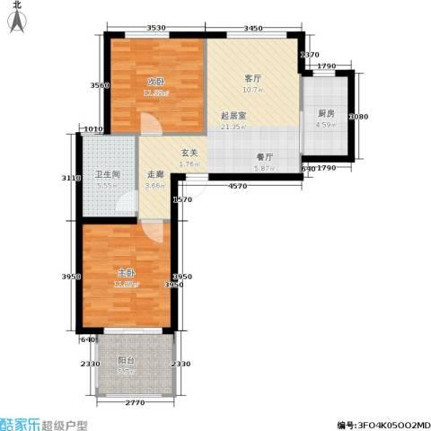 天赋庄园2室0厅1卫1厨69.00㎡户型图