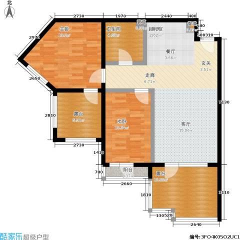 恒泰·时间海2室0厅1卫0厨89.00㎡户型图