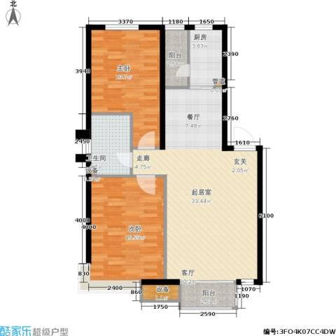 中房上东花墅二期2室0厅1卫1厨84.00㎡户型图