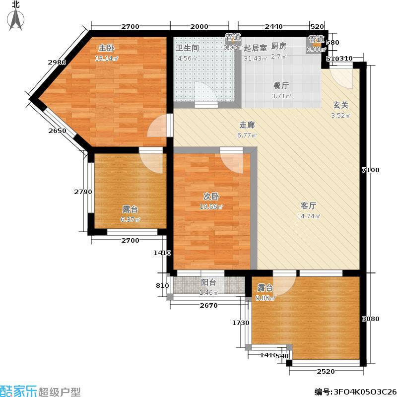 恒泰·时间海89.00㎡恒泰・时间海5、6号楼A正户型
