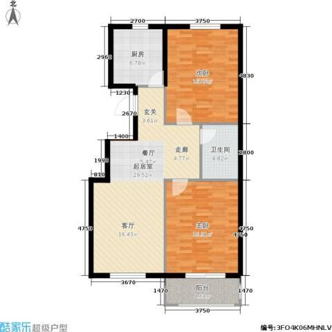 彼岸城2室0厅1卫1厨87.00㎡户型图