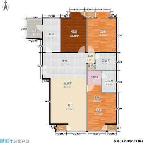 和平里de小镇3室0厅2卫1厨161.00㎡户型图