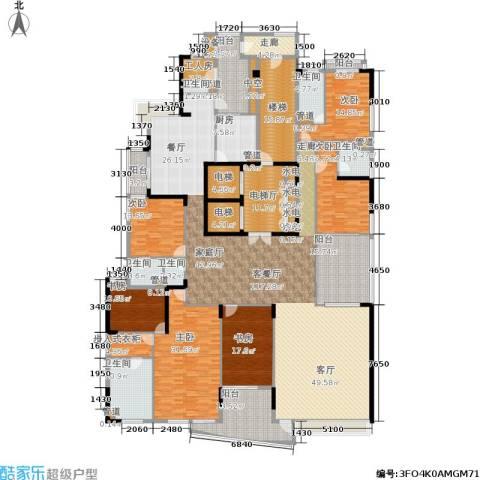 中信君庭6室1厅6卫1厨493.00㎡户型图