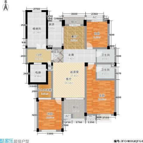 多蓝水岸3室0厅2卫1厨187.00㎡户型图