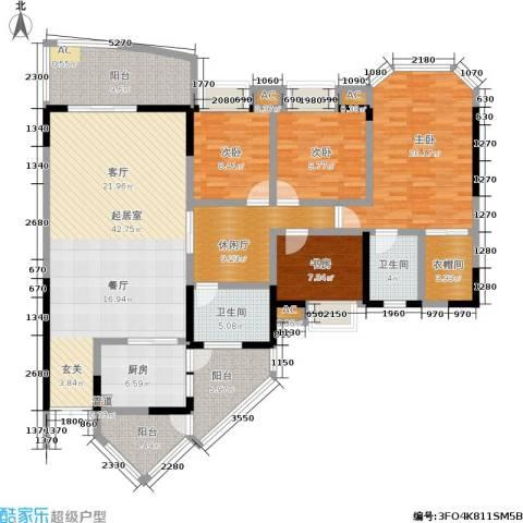金洲星韵苑4室0厅2卫1厨160.00㎡户型图