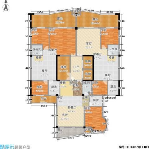 源昌鑫海湾5室3厅3卫3厨433.00㎡户型图