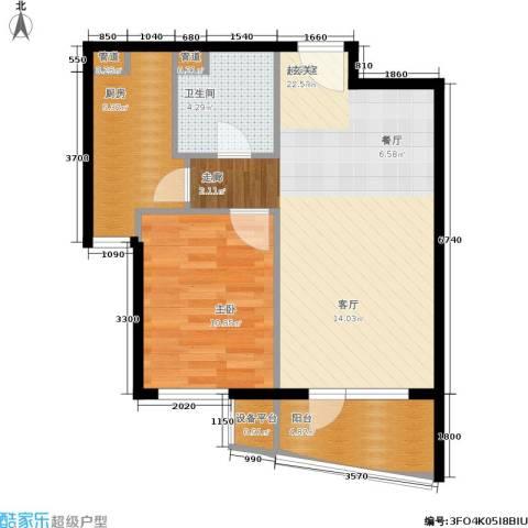 山海同湾1室0厅1卫1厨75.00㎡户型图