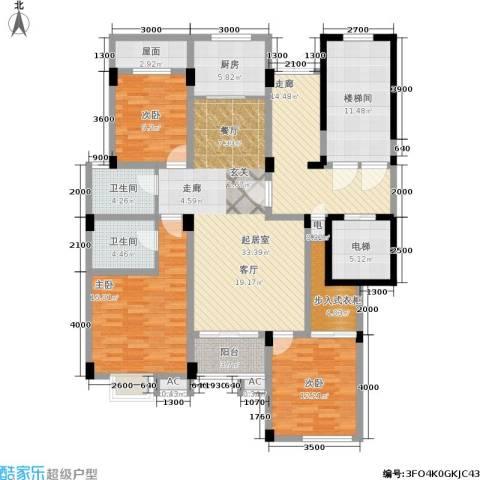 多蓝水岸3室0厅2卫1厨188.00㎡户型图