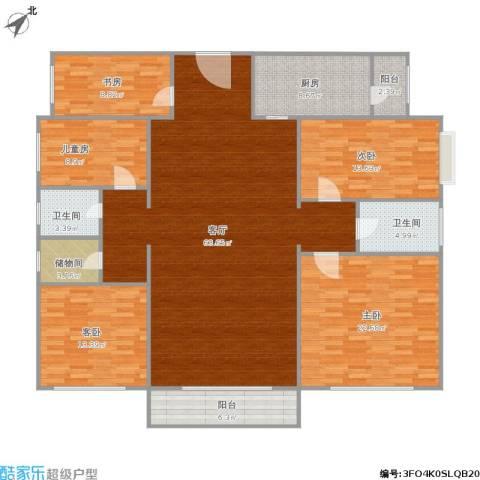 御龙华庭5室1厅2卫1厨213.00㎡户型图