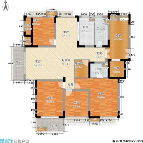左邻右舍4室0厅2卫1厨160.00㎡户型图