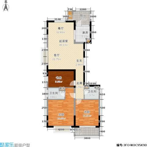 云龙十一景3室0厅2卫1厨151.00㎡户型图