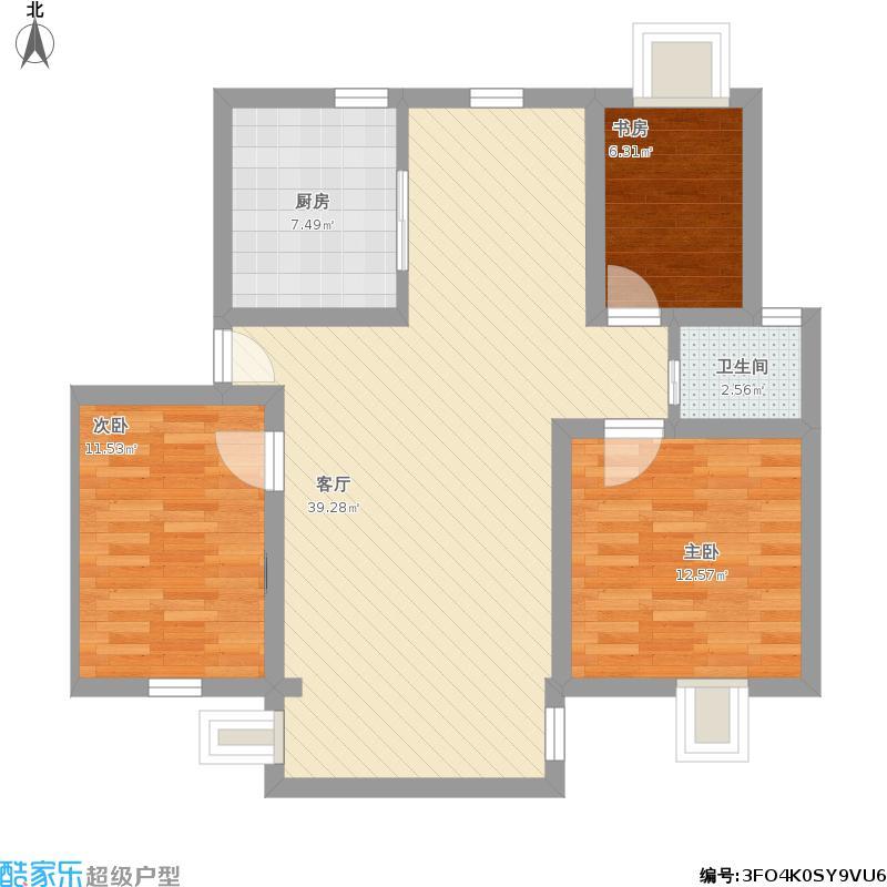 水晶公园110方三室两厅