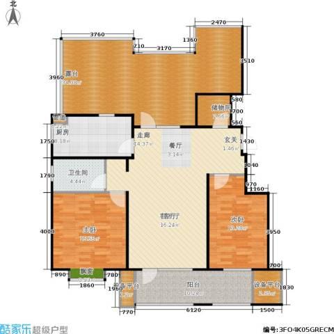 康城·瑞河兰乔2室1厅1卫1厨127.51㎡户型图