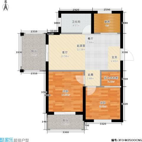 天赋庄园2室0厅1卫1厨72.00㎡户型图