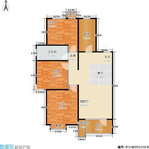 康城·瑞河兰乔3室1厅1卫1厨114.00㎡户型图