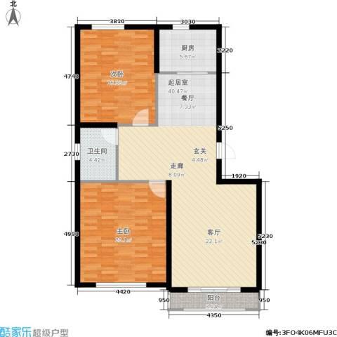 彼岸城2室0厅1卫1厨100.00㎡户型图