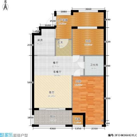 戴河海公园2室1厅1卫1厨97.00㎡户型图