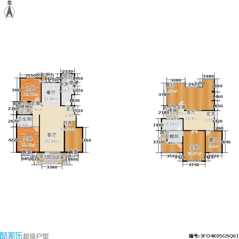 康城·瑞河兰乔214.34㎡康城・瑞河兰乔三期B4跃层户型