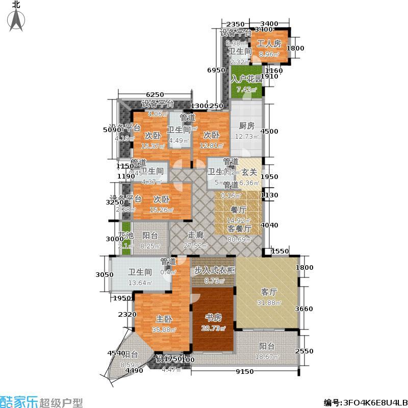 爱群荟景湾QQ户型5室1厅5卫1厨