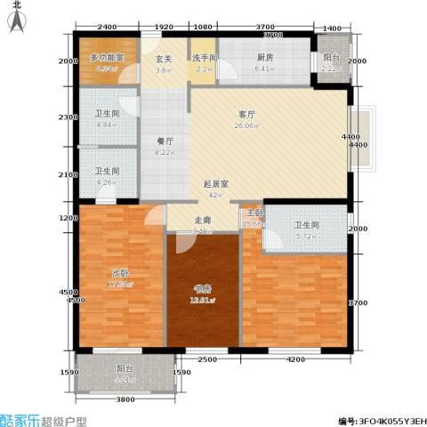 银领国际3室0厅3卫1厨162.00㎡户型图