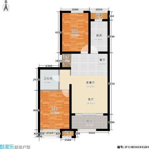 戴河海公园2室1厅1卫1厨94.00㎡户型图