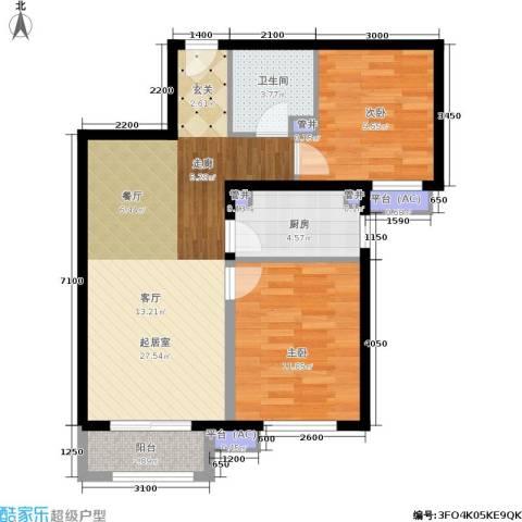 金隅・汇景苑2室0厅1卫1厨71.17㎡户型图