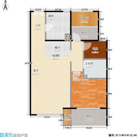新弘国际阳光城2室1厅1卫1厨80.00㎡户型图