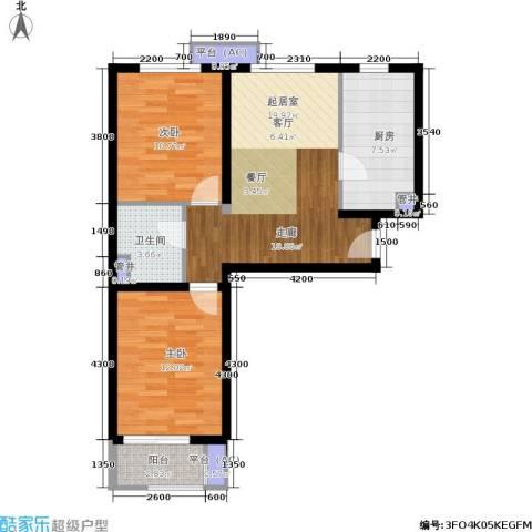 金隅・汇景苑2室0厅1卫1厨67.52㎡户型图