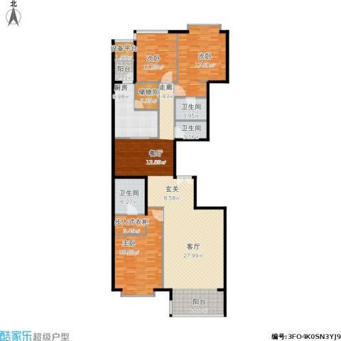 富力爱丁堡公馆3室1厅3卫1厨198.00㎡户型图