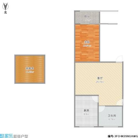 章家巷小区1室1厅1卫1厨95.00㎡户型图
