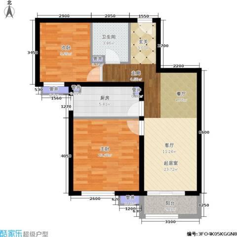 金隅・汇景苑2室0厅1卫1厨69.89㎡户型图
