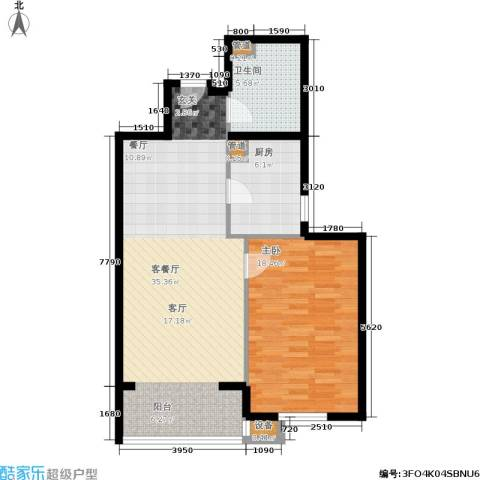 新景家园1室1厅1卫1厨93.00㎡户型图