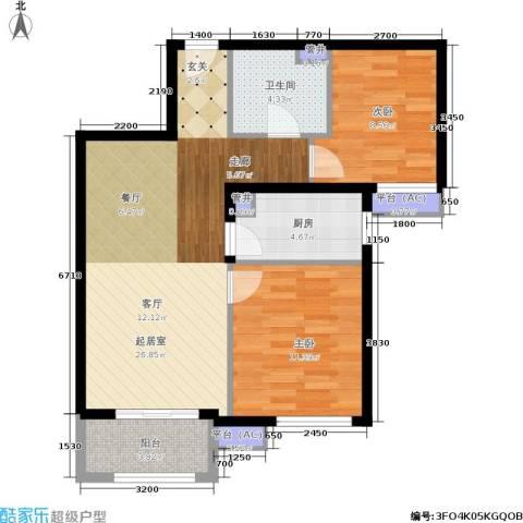 金隅・汇景苑2室0厅1卫1厨70.33㎡户型图