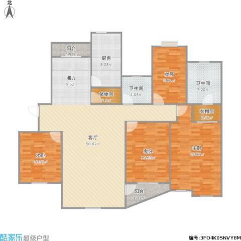 都市花园4室1厅2卫1厨179.00㎡户型图