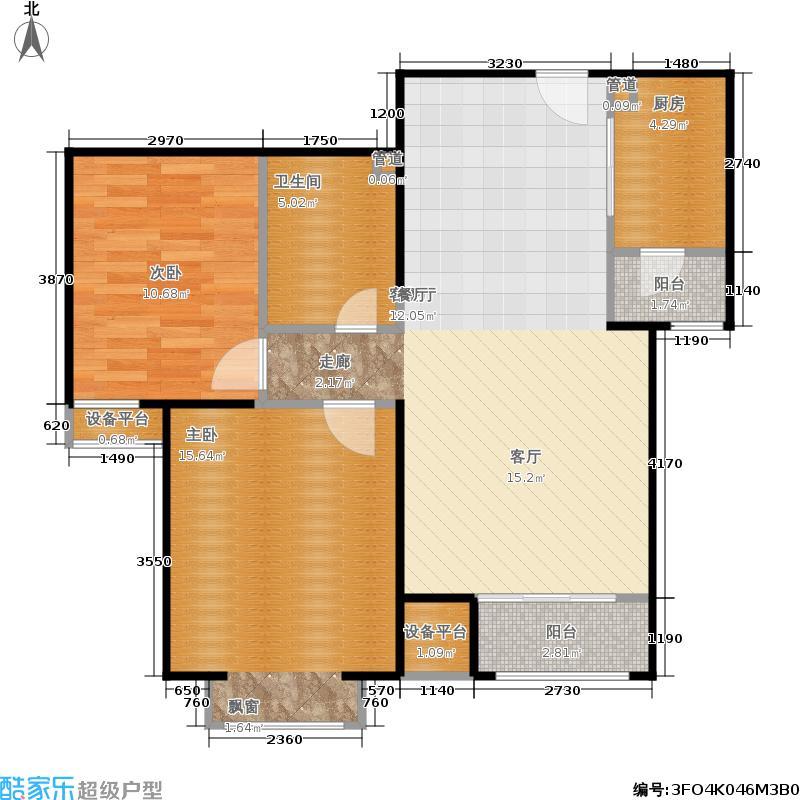 鸿坤理想城92.34㎡5号楼D2(已售面积9234m户型