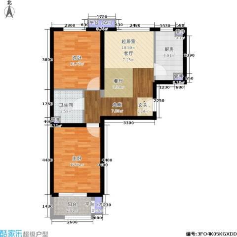 金隅・汇景苑2室0厅1卫1厨63.85㎡户型图