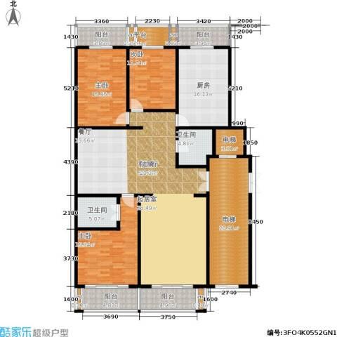 新裕家园3室1厅2卫1厨245.00㎡户型图