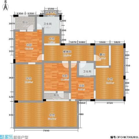 万科西街庭院 西街花园3室0厅2卫0厨183.00㎡户型图