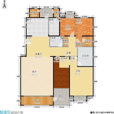 朱雀门3室1厅3卫1厨291.00㎡户型图
