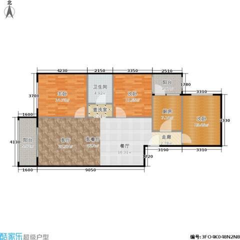 椿树园3室1厅1卫1厨139.00㎡户型图
