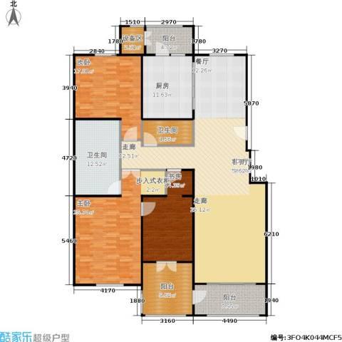 朱雀门3室1厅2卫1厨186.00㎡户型图