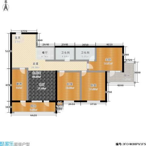 阳光新园1室0厅2卫1厨132.00㎡户型图