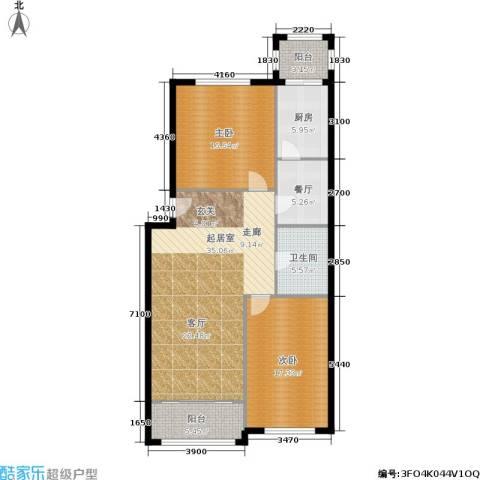 天通苑北二区2室1厅1卫1厨104.00㎡户型图