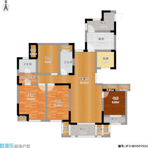 天正天御溪岸3室1厅2卫1厨175.00㎡户型图