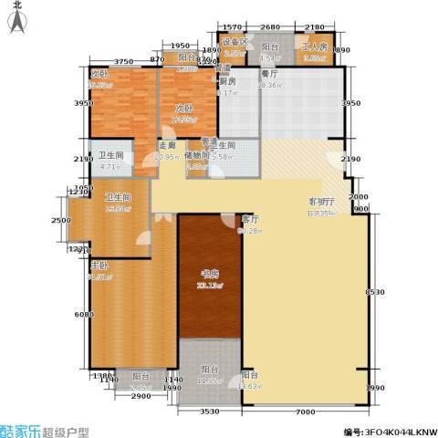 朱雀门4室1厅3卫1厨295.00㎡户型图
